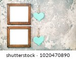 two photo or picture frames... | Shutterstock . vector #1020470890