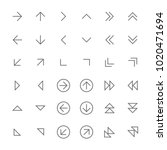 icons vector thin arrows... | Shutterstock .eps vector #1020471694