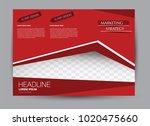 landscape wide flyer template.... | Shutterstock .eps vector #1020475660