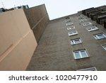 view from below to soviet... | Shutterstock . vector #1020477910