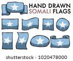 set of somali hand drawn  ... | Shutterstock .eps vector #1020478000