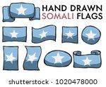 set of somali hand drawn  ... | Shutterstock .eps vector #1020478000