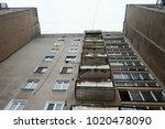 view from below to soviet... | Shutterstock . vector #1020478090