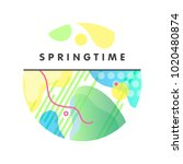 unique artistic spring card... | Shutterstock .eps vector #1020480874