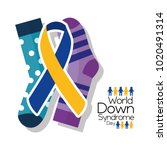 world down syndrome day card... | Shutterstock .eps vector #1020491314