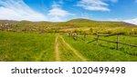 panorama of mountainous rural... | Shutterstock . vector #1020499498