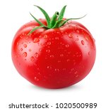tomato isolated. tomato with... | Shutterstock . vector #1020500989