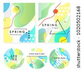 unique artistic spring cards... | Shutterstock .eps vector #1020502168