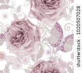 seamless pattern. decorative... | Shutterstock . vector #1020507028