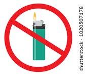 no open fire sign. forbidden...   Shutterstock .eps vector #1020507178