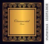 vintage ornamental frame.... | Shutterstock .eps vector #1020513838