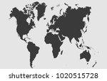 world map vector | Shutterstock .eps vector #1020515728