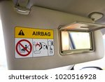close up of cabin car ceiling... | Shutterstock . vector #1020516928