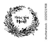 happy mother's day background ... | Shutterstock .eps vector #1020521908