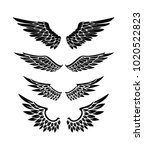 illustration of wings...   Shutterstock .eps vector #1020522823