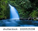 waterfall in tropical jungle in ... | Shutterstock . vector #1020525238