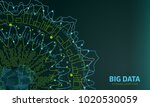 big data visualization.... | Shutterstock .eps vector #1020530059