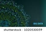 big data visualization.... | Shutterstock .eps vector #1020530059