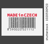 vector realistic barcode  made... | Shutterstock .eps vector #1020530923
