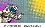 mocap male astronaut shows hand ... | Shutterstock .eps vector #1020531829