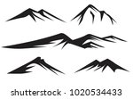 mountains silhouettes on the... | Shutterstock .eps vector #1020534433