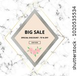 cover placard sale white marble ... | Shutterstock .eps vector #1020535534