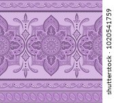 floral indian paisley pattern... | Shutterstock .eps vector #1020541759
