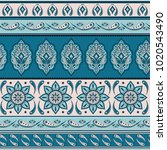 floral indian paisley pattern... | Shutterstock .eps vector #1020543490