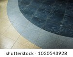 tile floor with rounded pattern ... | Shutterstock . vector #1020543928