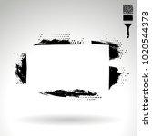 black brush stroke and texture. ... | Shutterstock .eps vector #1020544378