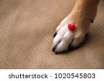 small figurine of heart and... | Shutterstock . vector #1020545803