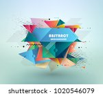 colorful abstract design.... | Shutterstock .eps vector #1020546079