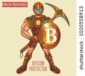 character   protector of bank... | Shutterstock .eps vector #1020558913