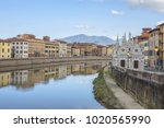 picturesque arno river... | Shutterstock . vector #1020565990