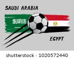 flags of saudi arabia and egypt ...   Shutterstock .eps vector #1020572440