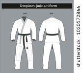 template  kimono for judo... | Shutterstock .eps vector #1020572866