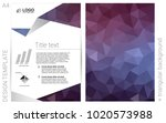 dark purple vector  brochure...