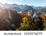 neuschwanstein castle under... | Shutterstock . vector #1020576079