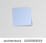 paper sticker with shadow on... | Shutterstock .eps vector #1020583033