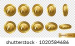 namecoin. set of realistic 3d... | Shutterstock .eps vector #1020584686