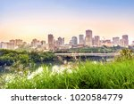 edmonton downtown after sunset  ... | Shutterstock . vector #1020584779