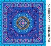 fantastic flower ornament.... | Shutterstock .eps vector #1020588940
