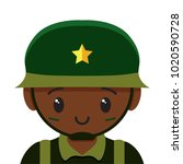 vector cute soldier colorful... | Shutterstock .eps vector #1020590728