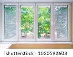 plastic window and beutiful... | Shutterstock . vector #1020592603