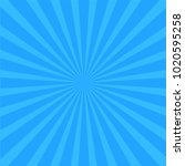 bright blue rays background.... | Shutterstock .eps vector #1020595258