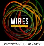 electrical wires of different... | Shutterstock .eps vector #1020595399