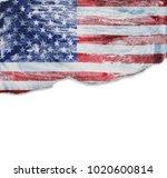 grunge usa flag | Shutterstock . vector #1020600814
