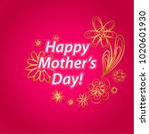 happy mother's day greeting...   Shutterstock .eps vector #1020601930