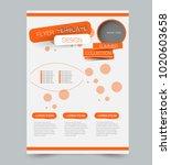 orange business flyer. a4... | Shutterstock .eps vector #1020603658