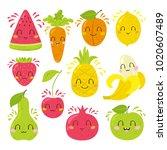 vector illustration  big set of ... | Shutterstock .eps vector #1020607489